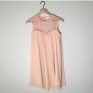 ASOS Maternity Pink Shift Lace Sleeveless Dress